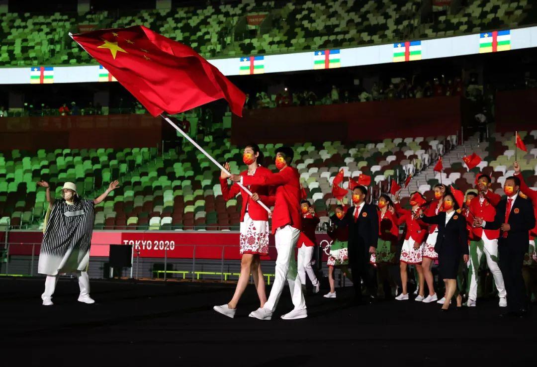 刚刚,中国代表团入场,高清大图来了!