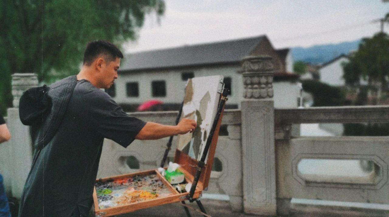 惊艳!诸暨一位老师的画,入选中国美协官方主办的展览→